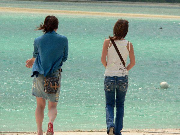 Spaziergang am Strand. Ishigaki.