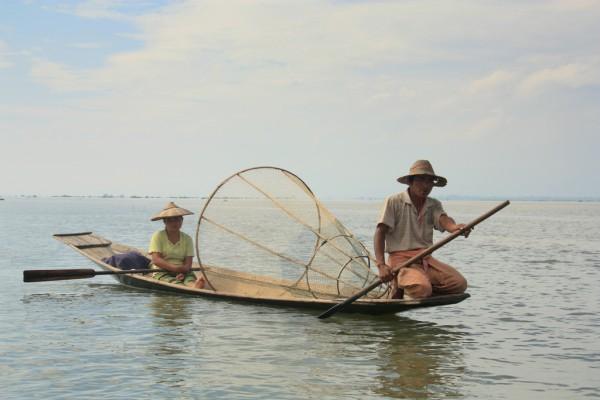 Fischer am Inle-See: Sie profitieren vom Geschäft mit den Touristen.