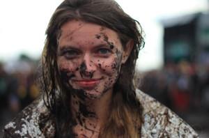 Bei einem richtigen Festival kann man schon einmal schmutzig werden.