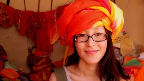 So sieht es aus, wenn Touristen versuchen, den Turban selber zu wickeln.