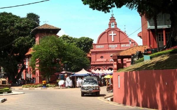 Im historischen Zentrum von Melaka findet man noch Überreste der holländischen Kolonialzeit.
