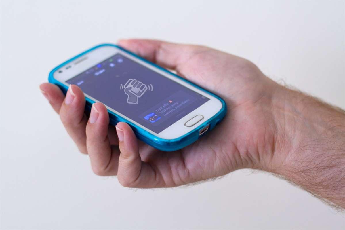 """Mit der Funktion """"Shake"""" kannst du auf WeChat im Handumdrehen Menschen auf der ganzen Welt kennenlernen. Foto: Nadine Zwahlen"""