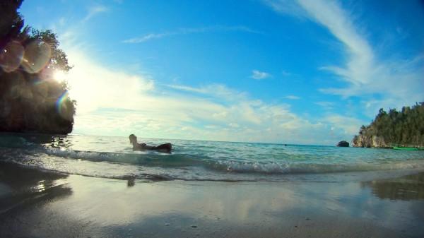 Einsamer Stand auf den Togean Inseln bei Sulawesi: Zwei Tage bis zum nächsten Internet.
