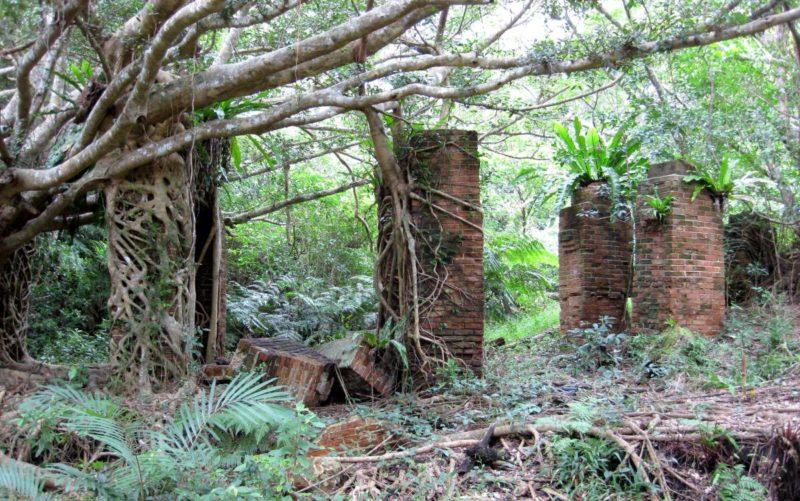 Überreste der Utara-Kohlenmine auf Okinawa. Foto: Yuuri Ootakumi
