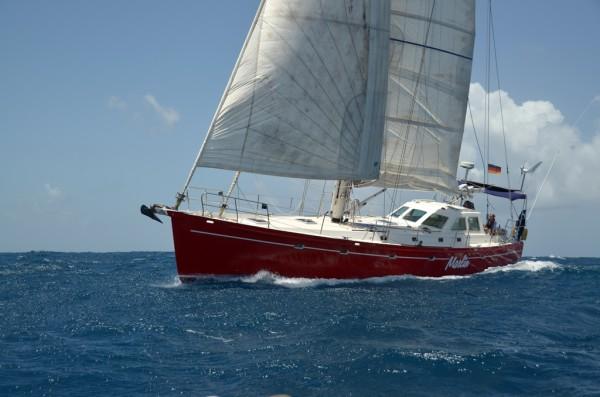 Abenteuer im Paradies: Die SY Marlin vor Grenada.