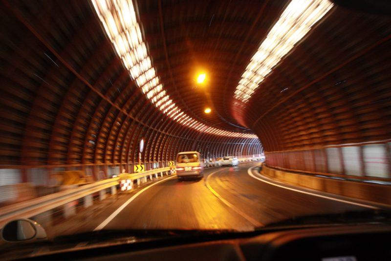 Im Auto unterwegs: Eine Landstrasse in der Nähe von Nagano. Bilder: Oliver Zwahlen