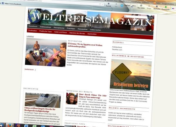 Im Januar 2013 hatte das Weltreisemagazin noch sein altes Layout.