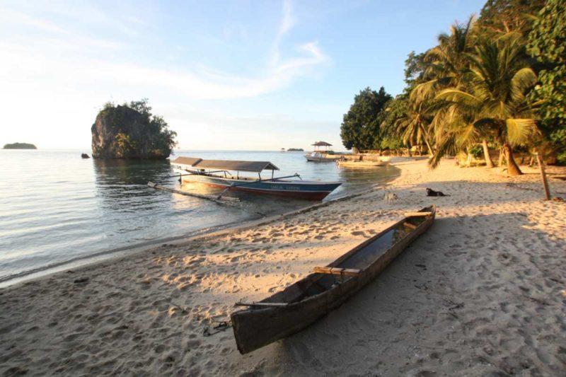 Zwar kein Strand wie aus dem Bilderbuch, doch macht dies die entspannte Atmosphäre wett.