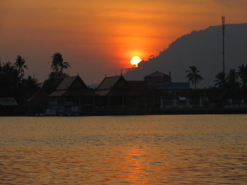 Abendstimmung bei Kampot