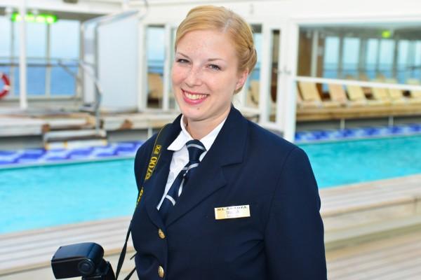 Marusia Luft reist als Bordfotographin im Kreuzfahrtschiff um die Welt. Bild: Christian Hanc