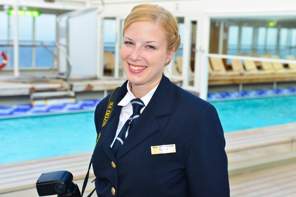 M Luft reist als Bordfotographin im Kreuzfahrtschiff um die Welt. Bild: ZVG