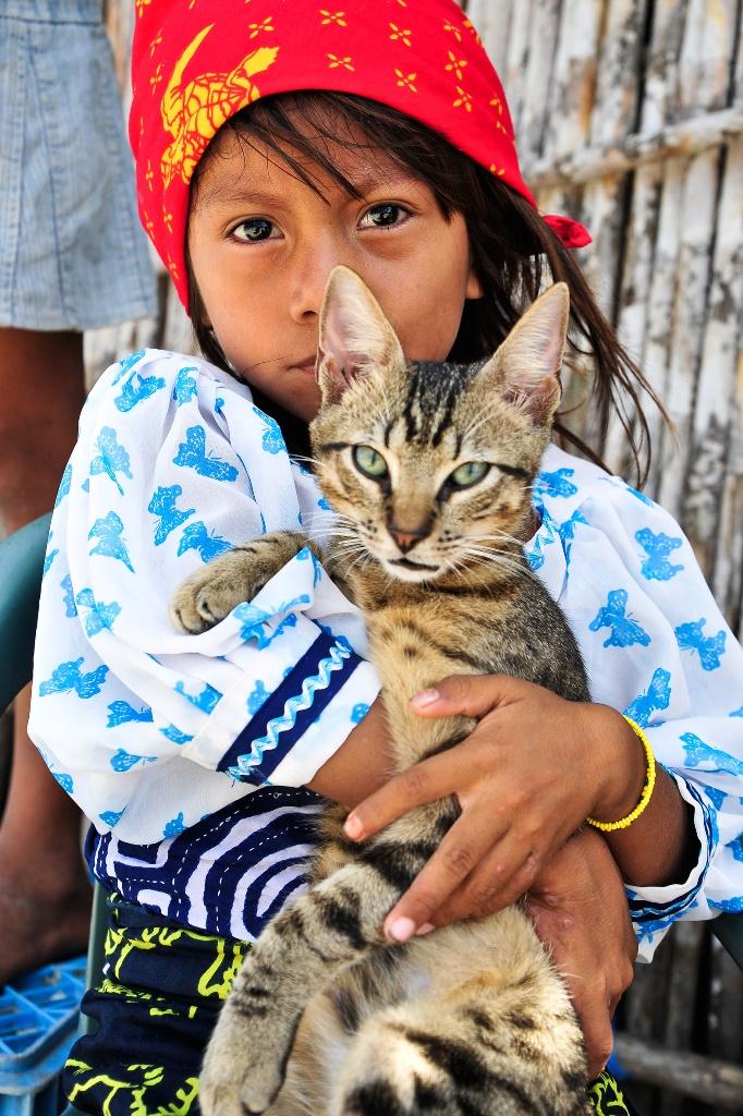 Landgang in Panama: Einheimische posieren gerne für Touristen. Foto: M. Luft.
