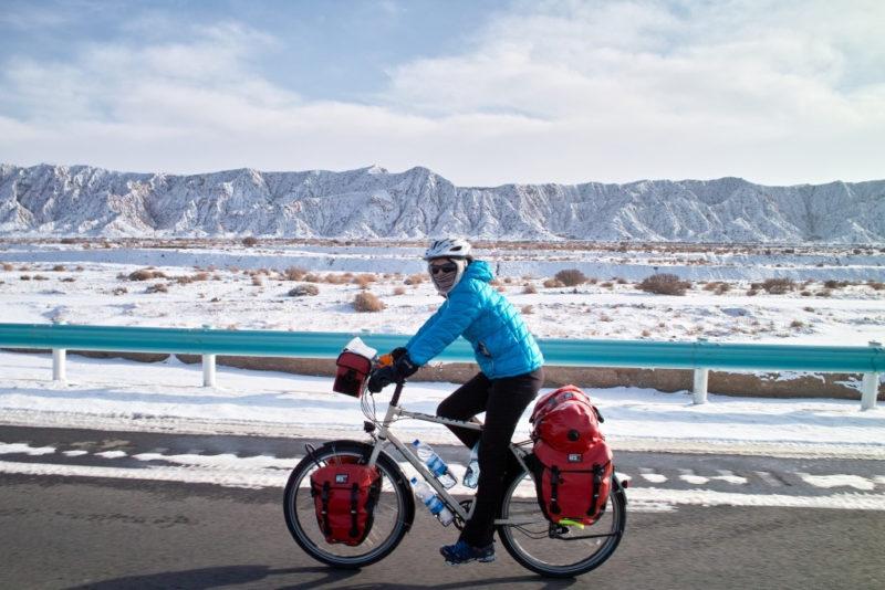 Im Winter: Bis zu minus 30 Grad wurde es auf der Strecke durch Westchina.