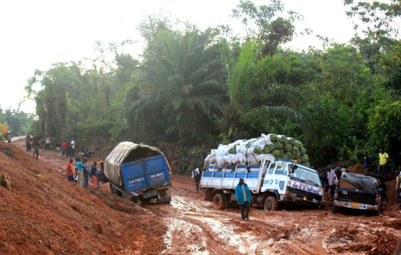 Schlamm in Liberia: Die Westroute ist für ihre schlechten Straßen bekannt.