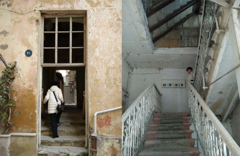 Herunter gekommenes Haus: Ein immer seltenerer Anblick im Stadtzentrum von Baku.