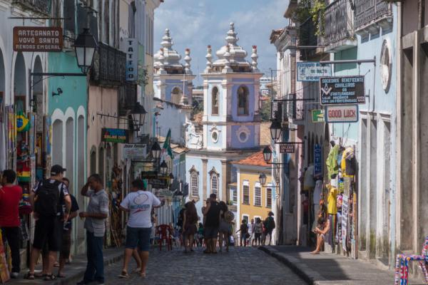 Kolonialer Flair in Salvador de Bahia.