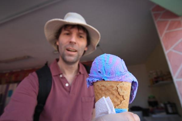 Ausserordentlicher Geschmack: Eiscreme mit Kaugummi-Geschmack.