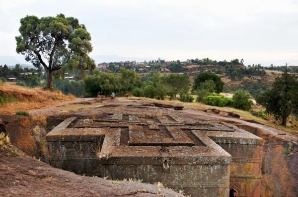 Die Felsenkirchen von Lalibela: Eine der Sehenswürdigkeiten in Äthiopien, die mich besonders interessiert. Foto: A. Davey / Flickr