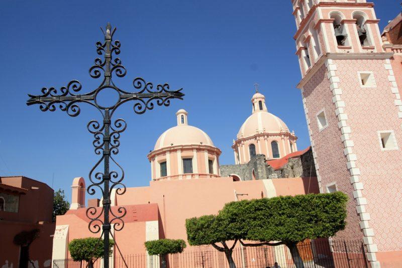 Die Hauptkirche von Tequisquiapan