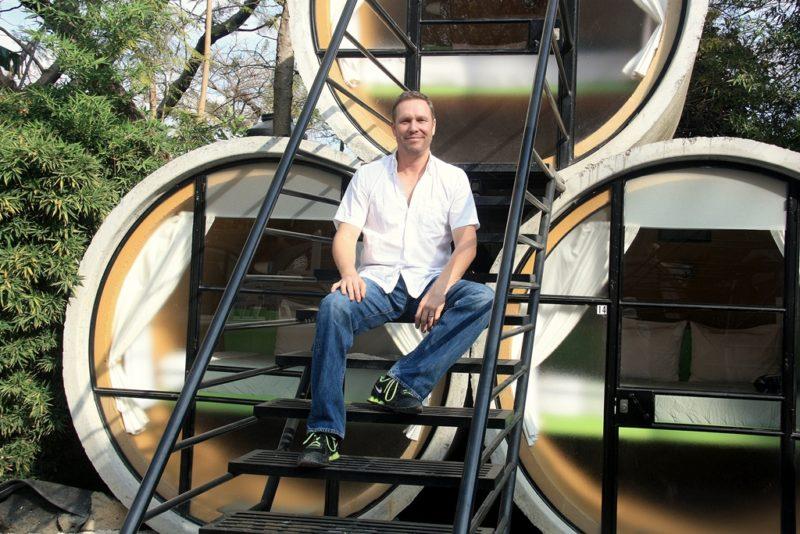 Der Amerikaner Robb Anderson hat das Tubo Hotel in Tepoztlan gegründet. Foto: O. Zwahlen