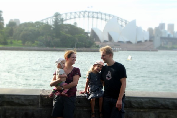Familienausflug zur weltbekannten Oper von Sydney.