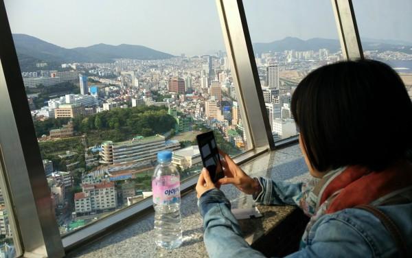 Grandiose Aussicht vom Busan Turm.