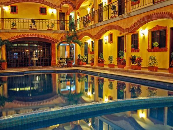 Gute Stimmung ist garantiert: Die Unterkunft in Playa del Carmen verfügt über einen eigenen Pool.