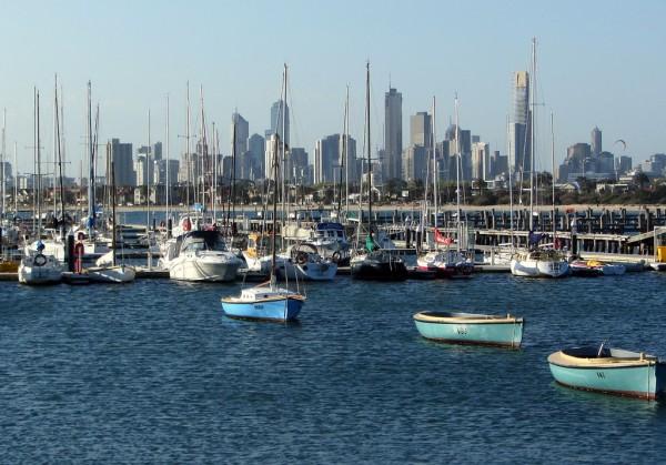 Blick von St. Kilda auf die Innenstadt von Melbourne. Foto: Christine Pierk