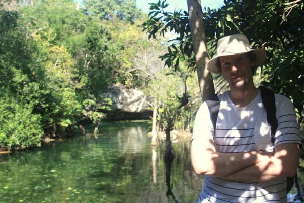 Ein Seitenareal des Cenote Azuls in der Nähe von Playa del Carmen.