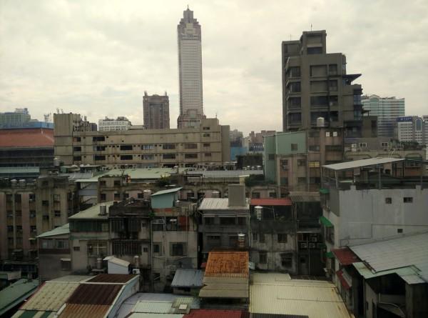 Blick auf das Zentrum von Taipei in der Nähe des Hauptbahnhofs.