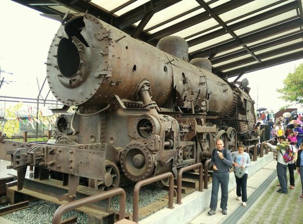 Diese Dampflok war während des Koreakriegs vor rund 70 Jahren in die Luft gejagt worden.
