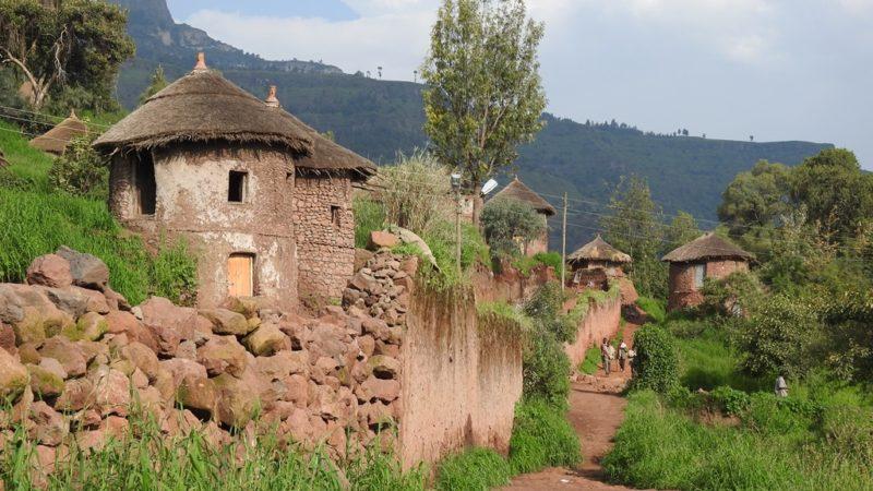 Traditioneller Dorfkern von Lalibela.