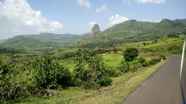 Erstaunlich grün: Die Landschaft im äthiopischen Hochland.