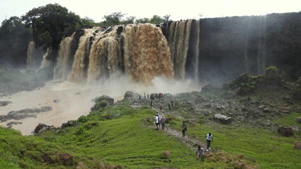 Der Wasserfall am Blauen Nil.
