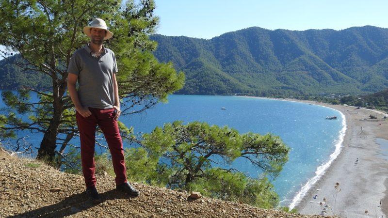 Ausblick auf den Strand von Adrasan.