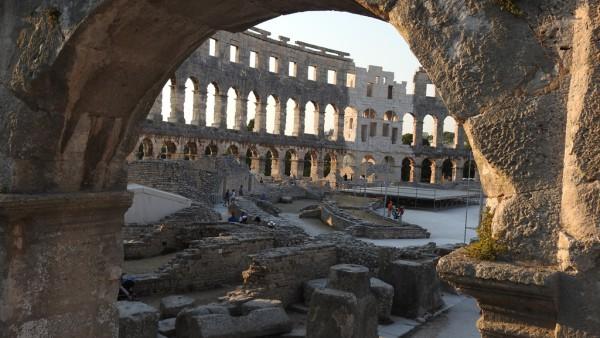 Das Wahrzeichen von Pula: Römisches Theater.