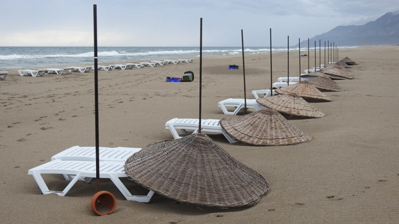Der Strand von Patara: 20 Kilometer und praktisch leer.