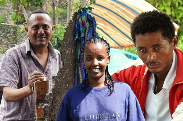Drei Gesichter Äthiopiens. Fotos: O. Zwahlen und F. Blümm