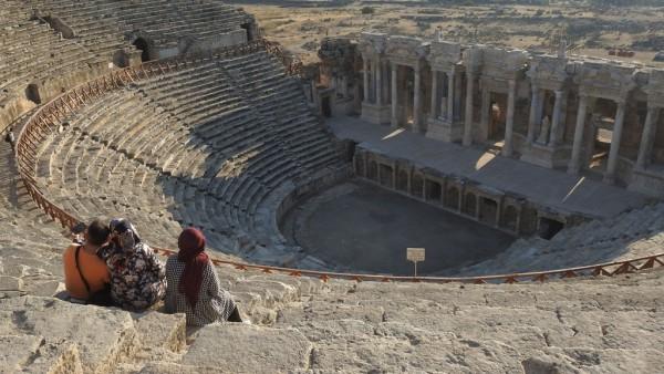 Das Odeon der antiken Stadt Hieropolis.