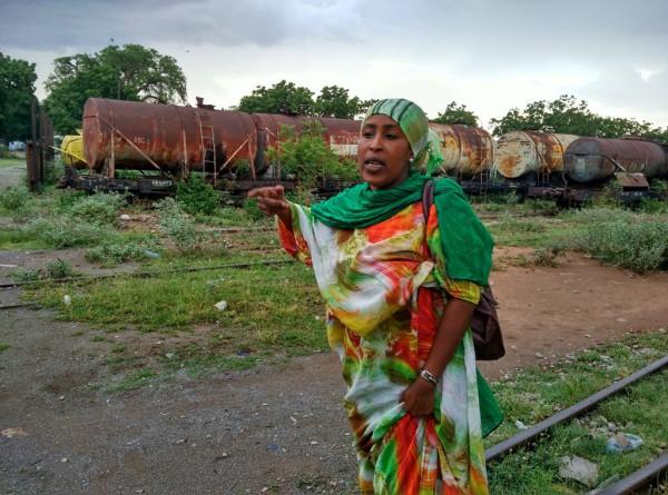 Persönliche Führung durch den Bahnhof von Dire Dawa. Foto: O. Zwahlen