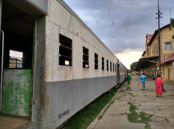 Blick auf das historische Bahnhofgebäude.