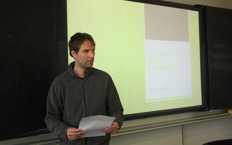 Im März hielt ich im Gymnasium Oberwil einen Vortrag über das Thema Weltreisen.