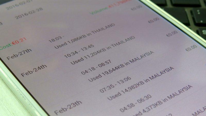 Auf der App von Glocalme kannst du genau nachsehen, wieviele Megabytes du pro Tag verbraucht hast.