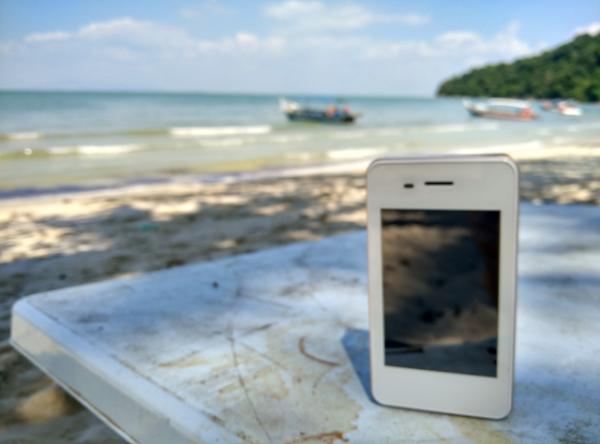 Guter Empfang am Monkey-Beach auf Penang, Malaysia. Fotos: OZ