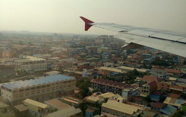 Landeanflug auf Phnom Penh.