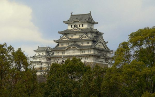 Das Schloss von Himeji im Westen von Honshu, Japan.