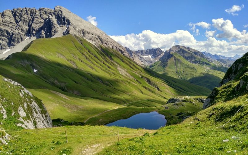 Der kleine Monzabonsee war das Endziel dieser kurzen Wanderung.