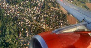 Landeanflug auf meine Heimatstadt. Fotos: OZ
