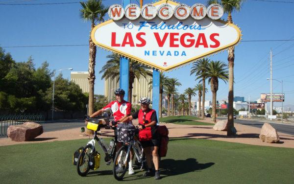 Thomas Schröder mit seiner Frau Sybille in Las Vegas.