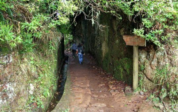 Die Wasserkanäle führen gelegentlich durch Felsspalten und sind nicht immer so leicht zu begehen wie hier.
